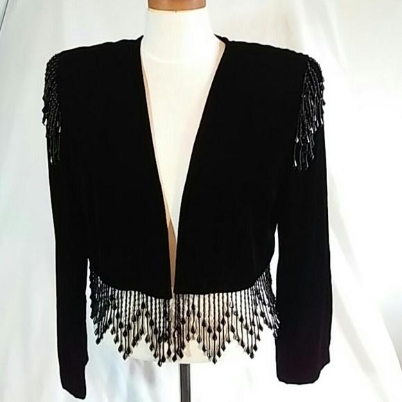 Black Beaded Evening Jackets